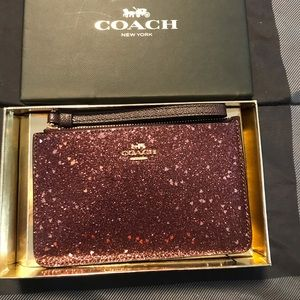 Coach Wristlet Purple Glitter Addition